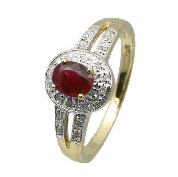 9ct gold Pre loved ruby & diamond cluster ring £195 on Sally Thornton Jewellery blog from Thorntons Jewellers Kettering Northampton