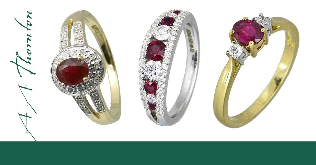 Sally Thornton Jewellery Blog on Ruby from Thorntons Jewellers Kettering Northampton