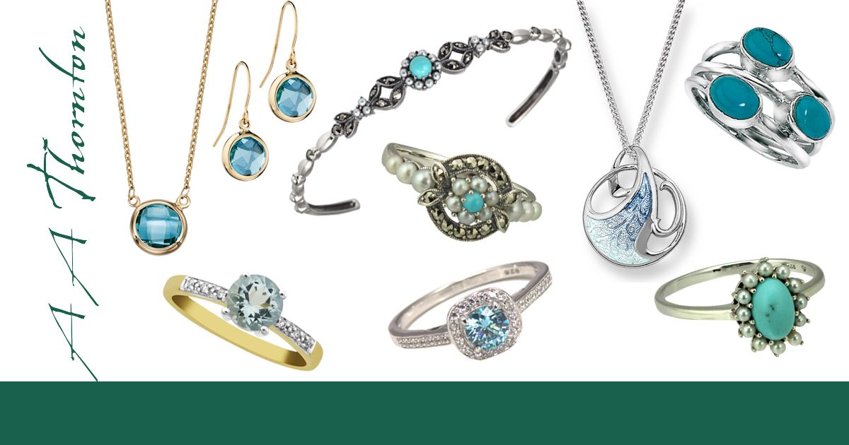 Sally's Article on blue Gemstone Jewellery from AA Thornton Kettering Northampton