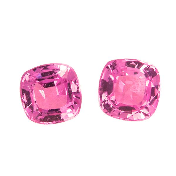 A pair of pink sapphires from AA Thornton Kettering Northampton