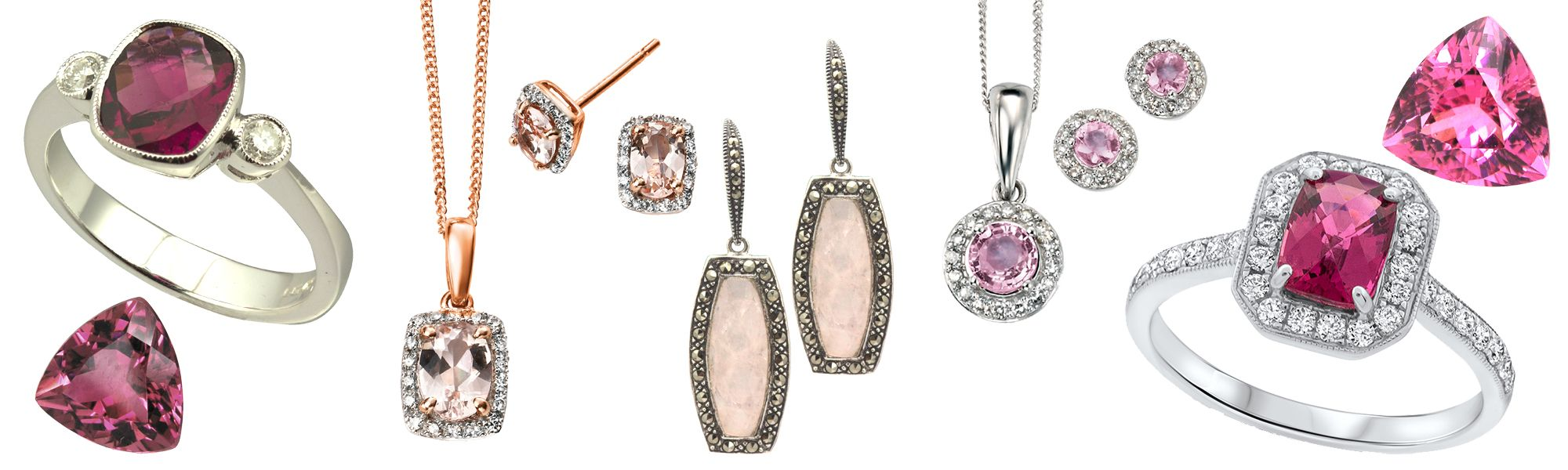 In the pink Gemstone Jewellery from AA Thornton Kettering Northampton