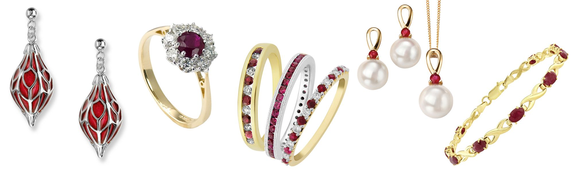 Sally's blog Kaleidoscope of Red Gemstone jewellery from AA Thornton Kettering