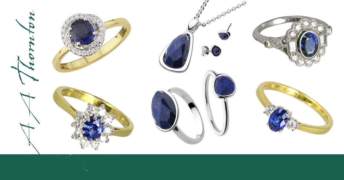 Sally's blog on singing the blues again with blue gemstone jewellery fro AA Thornton Kettering
