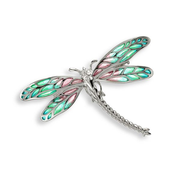 Plique a jour enamel silver dragonfly brooch from AA Thornton Kettering Northampton
