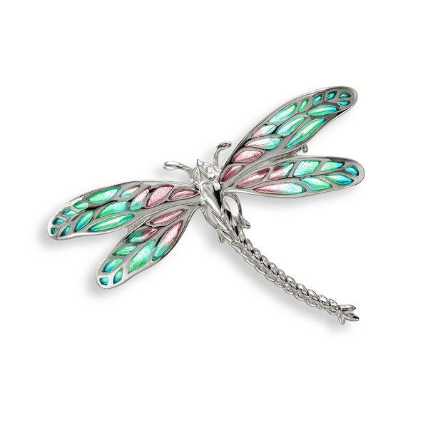 Plique a jour enamel silver dragonfly brooch from AA Thornton Kettering Northampton