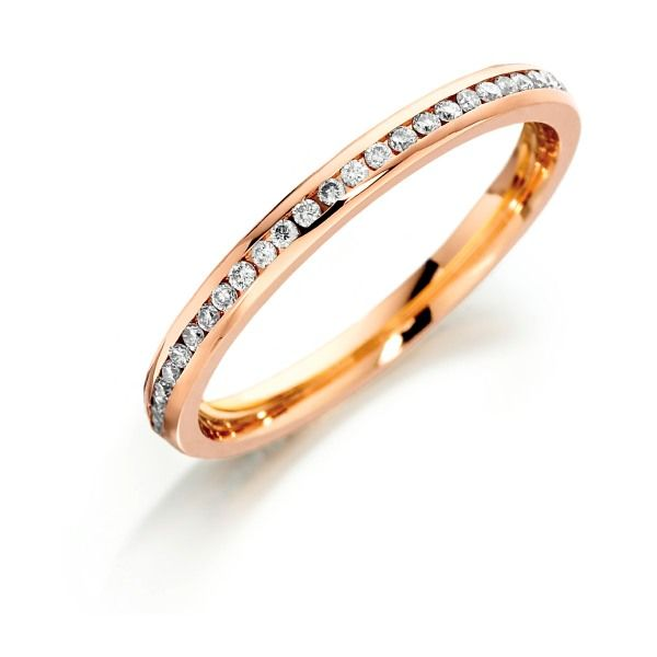 18ct Rose gold channel set diamond full eternity ring from AA Thornton Kettering
