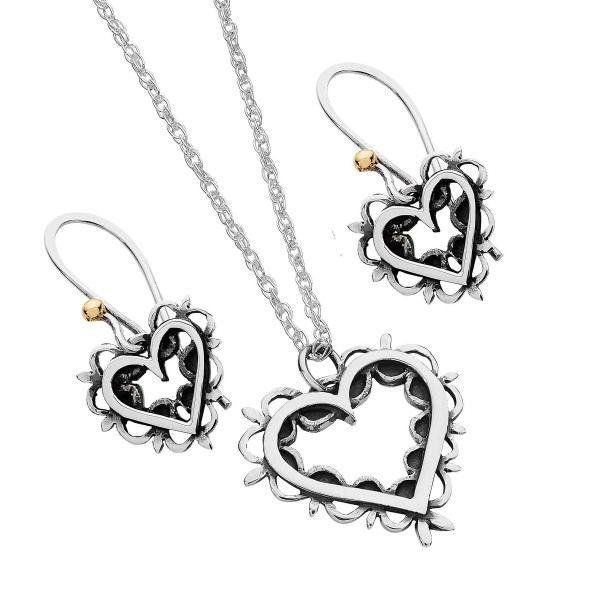 Linda Macdonald vintage romance collection pendant earrings