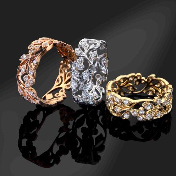 Luke Stockley floral rings