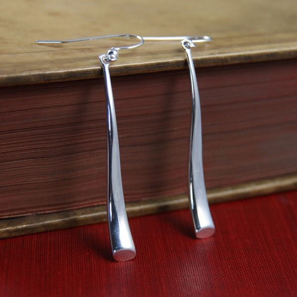 Silver Lucy earrings from AA Thornton Kettering Northampton Stamford