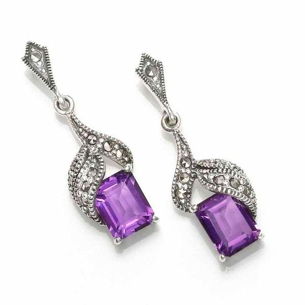 jewellery Ameythyst Drop Earrings