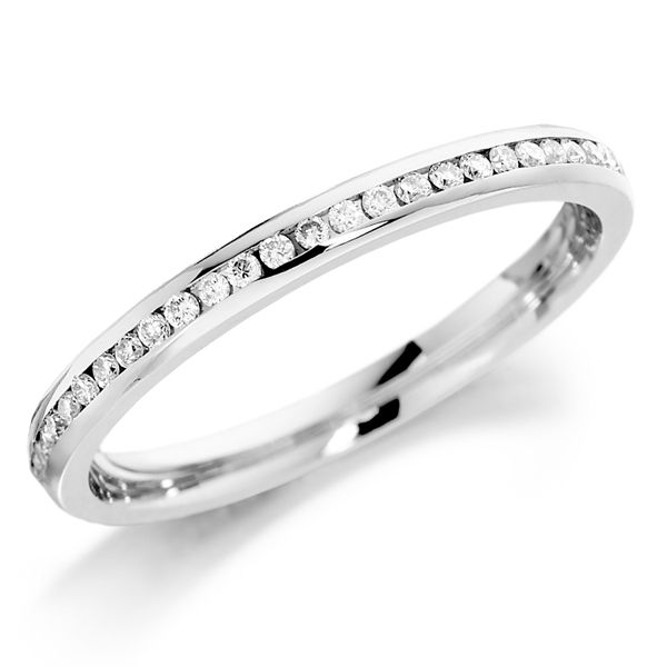 18ct White gold channel set diamond full eternity ring from AA Thornton Kettering Northants Northamptonshire