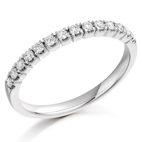 18ct white gold round brilliant cut diamond half eternity ring from AA Thornton Kettering Northants Northamptonshire
