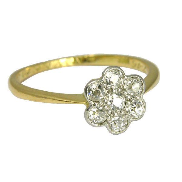 Pre Loved 18ct & Platinum Diamond Cluster Ring £795 from AA Thornton Kettering