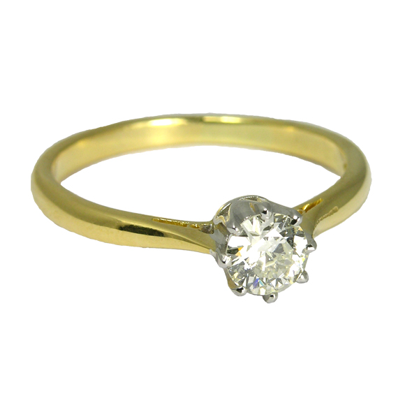 Pre loved second hand 18ct Diamond Ring With New Setting from AA Thornton Kettering