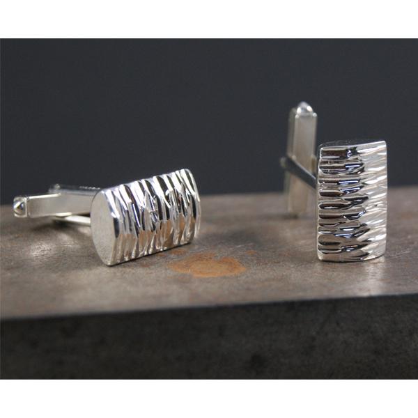 John Garland Taylor silver EZ cufflinks from AA Thornton Kettering Stamford Northampton