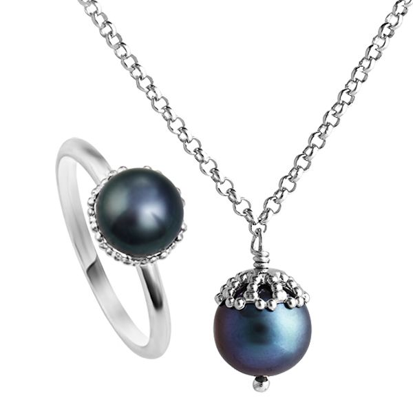 Emma Kate peacock freshwater pearl pendant from AA Thornton Kettering Stamford Northampton