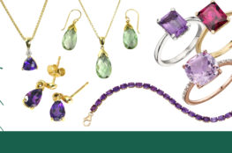 a cocktail of coloured gemstones to love from AA Thornton in Kettering Northampton
