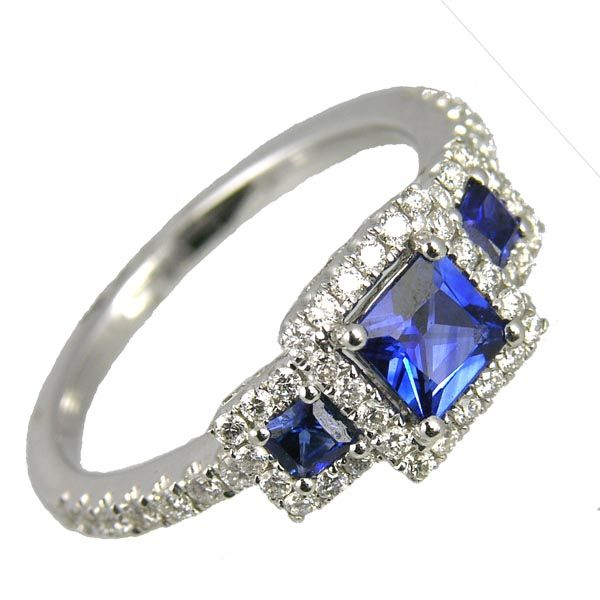 18ct white gold sapphire & diamond multi cluster ring £2,380 on Sally Thornton jewellery blog from Thorntons Jewellers Kettering Northampton