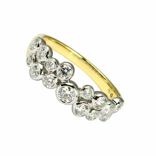 18ct yellow gold diamond bubble ring from Thorntons jewellers kettering Northampton