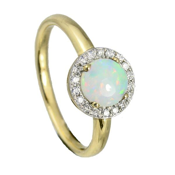 Opal & diamond ring on Sally Thornton Jewellery blog from Thorntons Jewellers Kettering Northampton