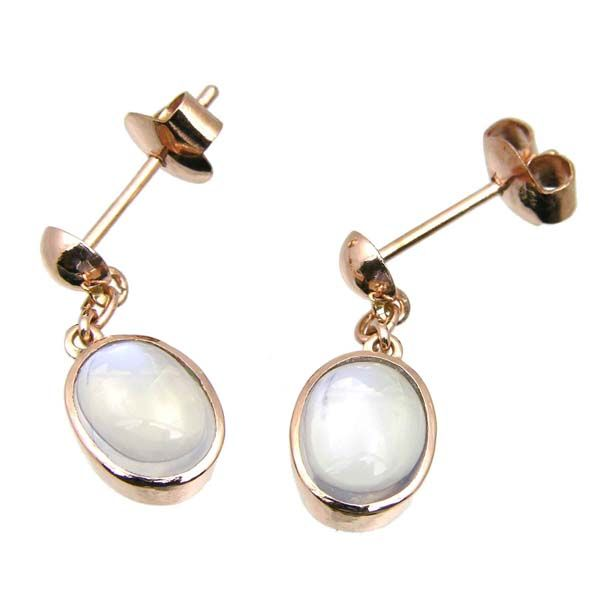 9ct rose gold large moonstone drop earrings £230 Sally Thornton Jewellery blog kettering northampton