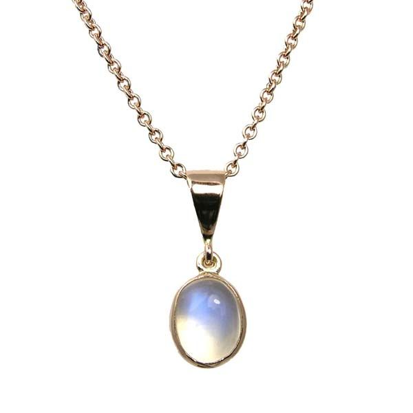 9ct rose gold oval moonstone pendant £95 Sally Thornton Jewellery blog Kettering Northampton