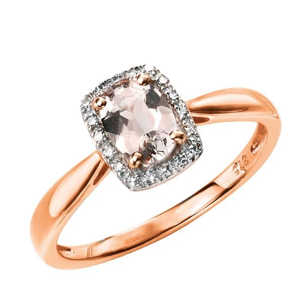 9ct rose gold pink morganite and diamond cluster ring £430 on Sally Thornton jewellery blog from Thorntons Jewellers Kettering Northampton