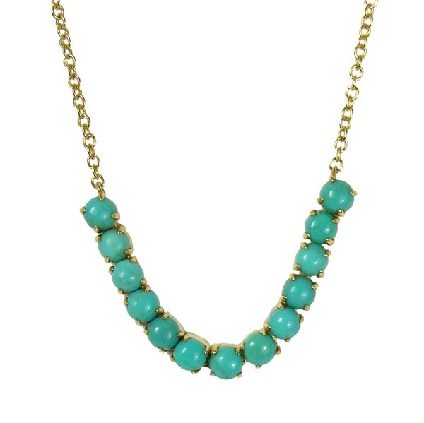 9ct yellow gold turquoise necklace from Thorntons Jewellers Kettering Northampton