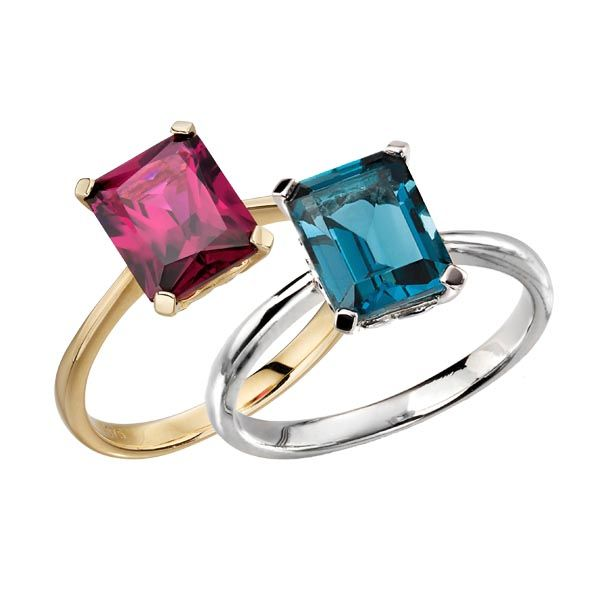 Brazilian garnet and London blue topaz cocktail rings on Sally Thornton jewellery blog from Thorntons Jewellers Kettering Northampton