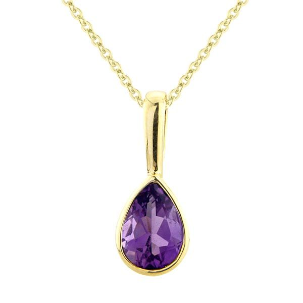9ct amethyst pendant On Sally Thornton Jewellery blog from Thorntons Jewellers Kettering Northampton