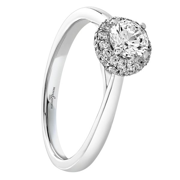 Diamond set engagement ring from AA Thornton Jeweller Kettering Northampton