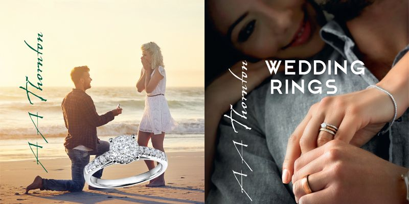Engagement & wedding ring collections from AA Thornton Jewellery Kettering Northampton