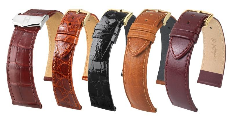 Selection of Hirscvh Watch straps from Thorntons Jewellers Jewellery services Kettering Northampton