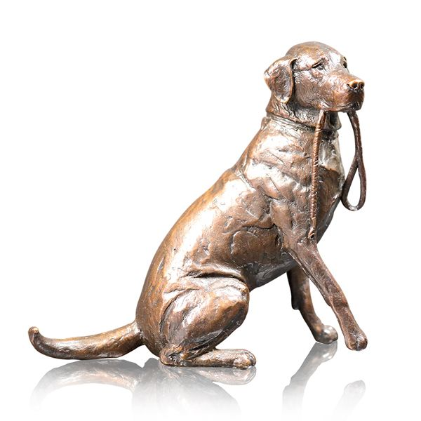 Bronze Limited edition Labrador with Lead from AA Thornton Jewellery Kettering Northampton