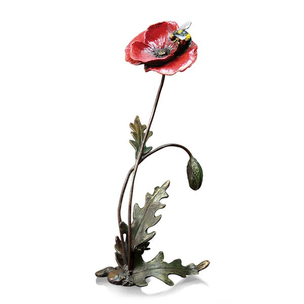 Limited edition Bronzw Poppy with Honey Bee from AA Thornton Jewellery Kettering Northampton