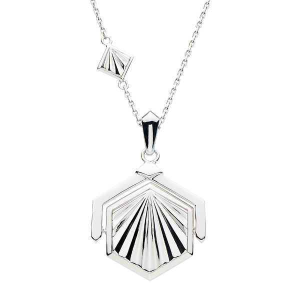 Silver Art Deco style spinner necklace from AA Thornton Jeweller Kettering Northampton