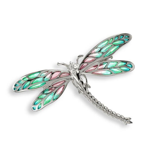 Silver dragonfly brooch with plique–a-jour enamel £99 Sally Thornton Jewellery blog on flying inspiration at thorntons jewellers kettering northampton