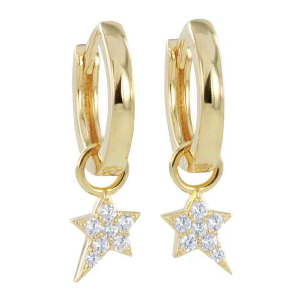 Silver & gold plate starry night hoop earrings £45 Sally Thornton Jewellery Blog kettering Northampton