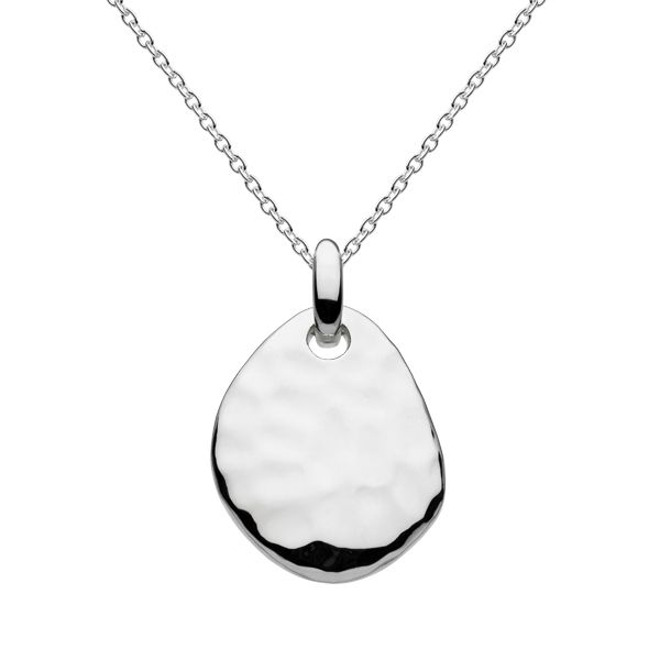 Silver hammered pebble necklace from AA Thornton Jeweller Kettering Northampton