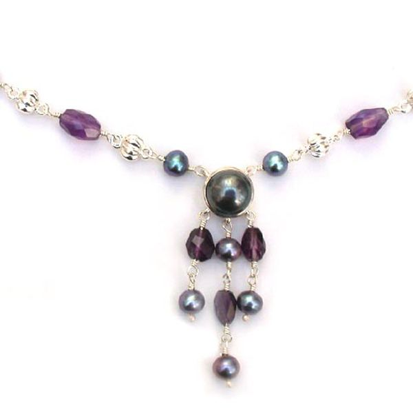 Dower & Hall waterlily necklace Amethyst and pearl necklace On Sally Thornton Jewellery blog from Thorntons Jewellers Kettering Northampton