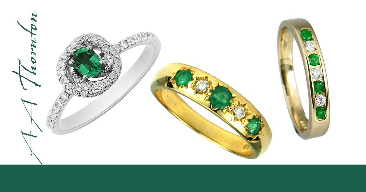 Emerald Jewellery from Sally Thorntons Jewellery blog at Thornton Jewellers Kettering