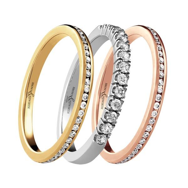 diamond set eternity rings from Thorntons Jewellers Kettering Northampton