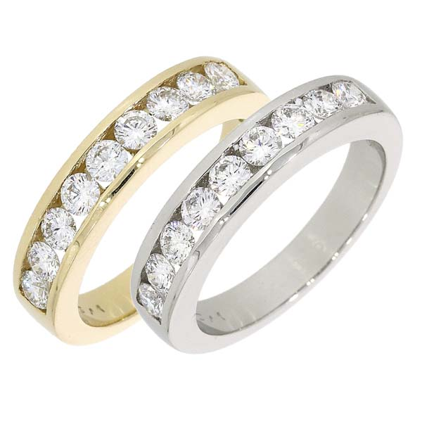 18ct Channel set diamond half eternity rings £2,650 ref 92664 from thornton jeweller diamond jewellery collection in Kettering Northampton