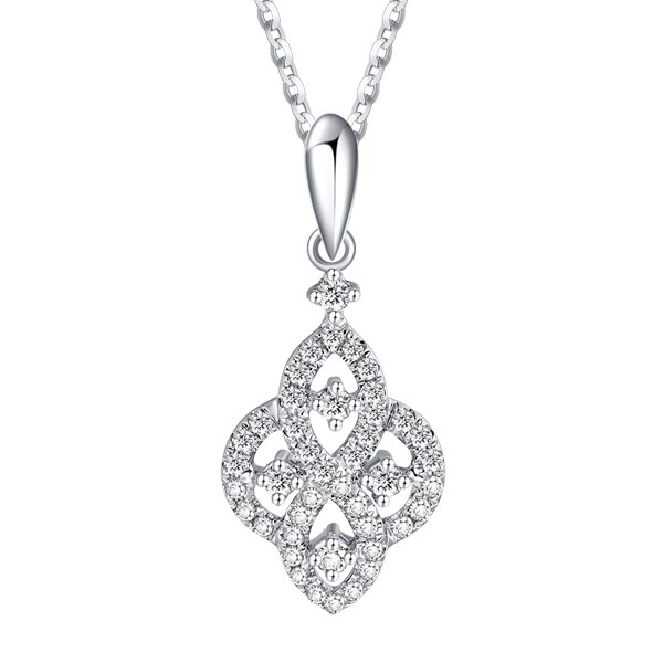 18ct gold diamond lozenge pendant on a necklet £805 our ref 97825 on 90992 from thornton jeweller diamond jewellery collection in Kettering Northampton
