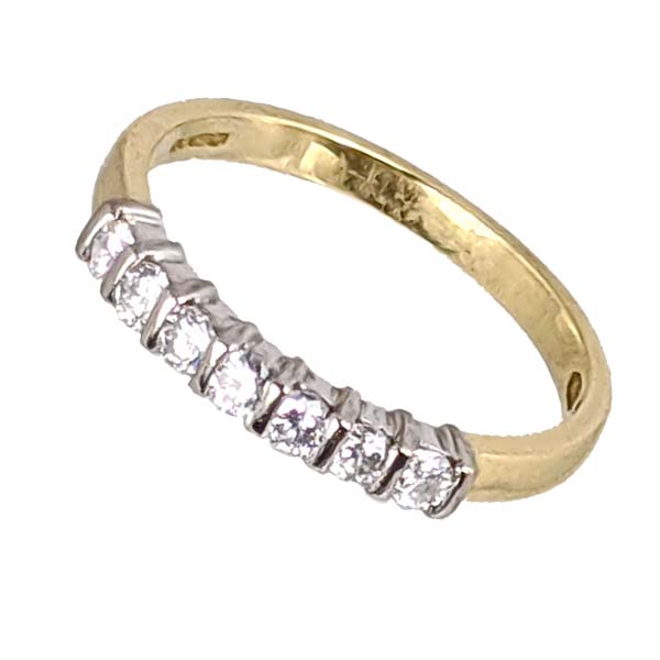 Pre loved 93917 £595 Second Hand 18ct Diamond Half Eternity Ring From Thorntons Jewellers Kettering Northampton
