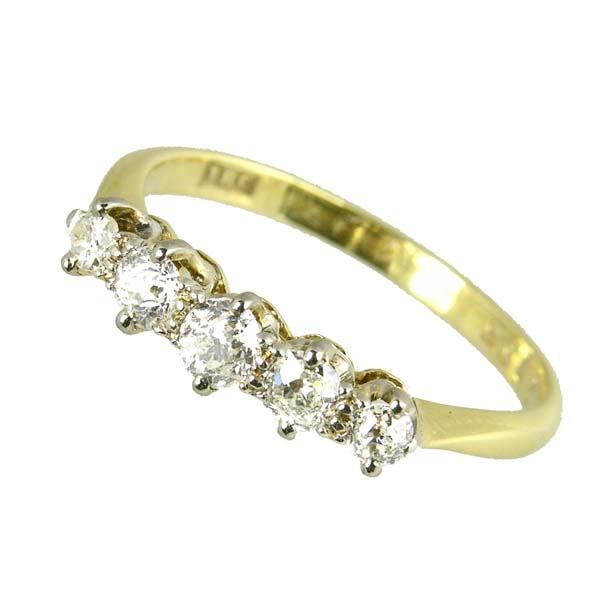 96554 £575 Second Hand Stamped 18ct 5 Stone Diamond Ring from Thorntons Jewellers Jewellery Collection Kettering Northampton