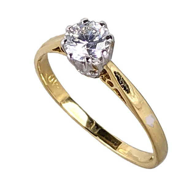 97526 £395 Second Hand 18ct Diamond Single Stone Ring from Thorntons Jewellers Jewellery Collection Kettering Northampton