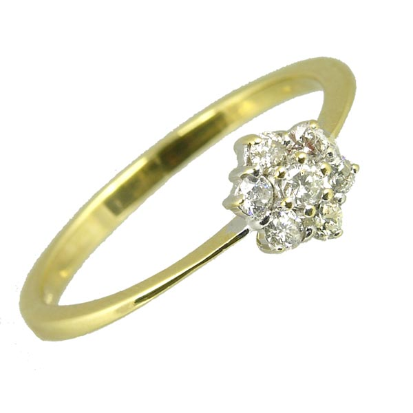 98802 £275 Second Hand 18ct Diamond Cluster Ring from Thorntons Jewellers Jewellery Collection in Kettering Northampton