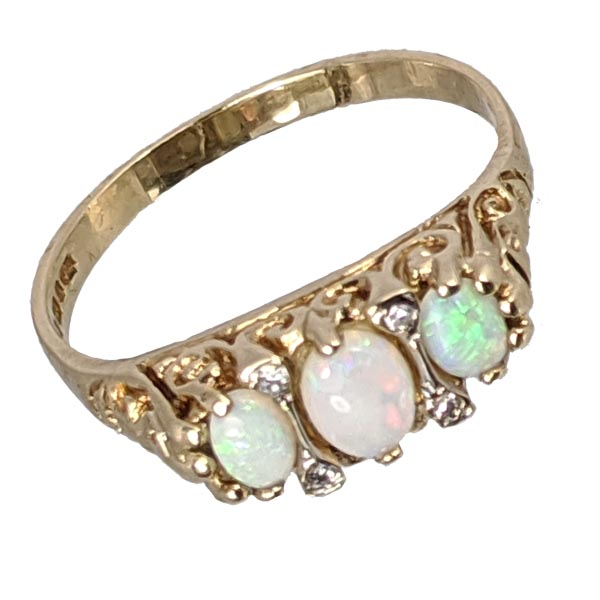 99281 £225 Second Hand 9ct Opal & Diamond Ring from Thorntons Jewellers Jewellery Collection in Kettering Northampton