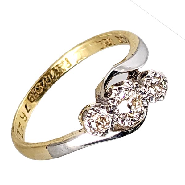 99283 £250 Second Hand 18ct 3 Stone Diamond Ring from Thorntons Jewellers Jewellery Collection in Kettering Northampton